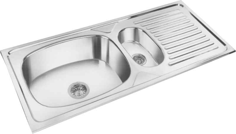 Single Bowl and Veg Bowl With Drain Board